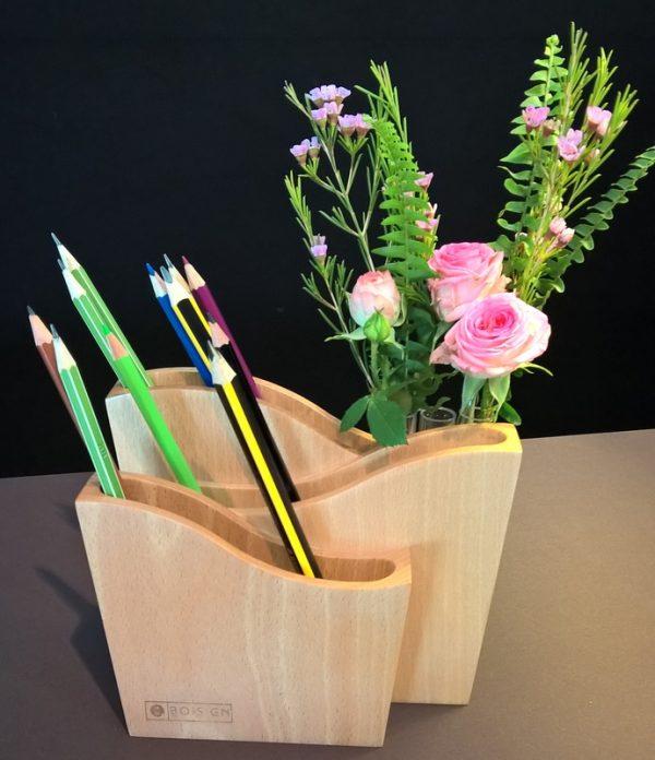 pot à crayons Atlantique avec fleurs