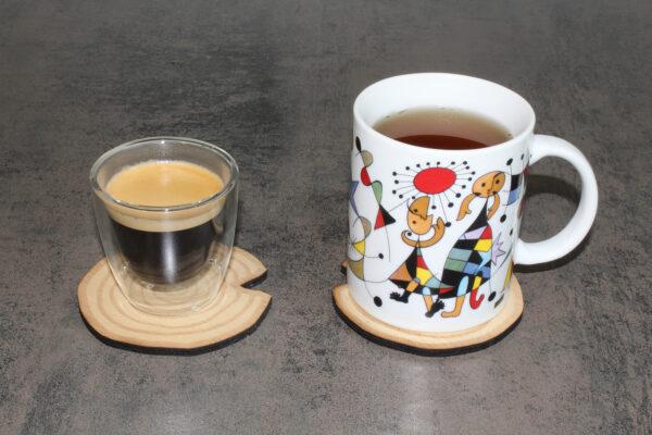 dessous de verres BoiSign avec tasse et mug