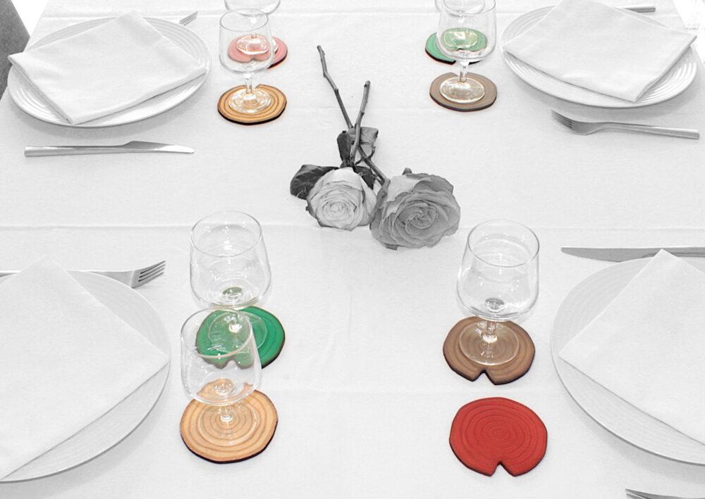sous-verres BoiSign à table