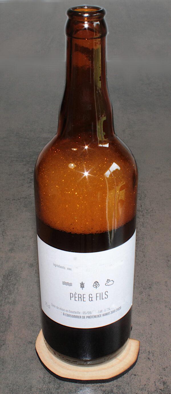 dessous de verres BoiSign avec bouteille